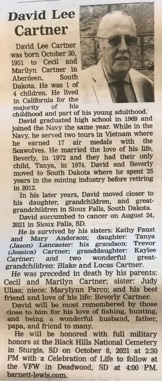 Obituary & Photo